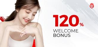 120% Welcome Bonus