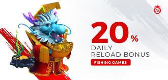 20% Daily Reload Bonus